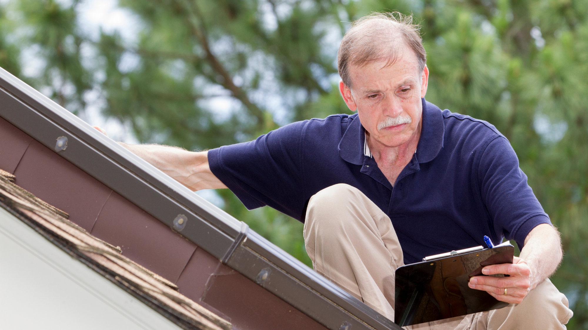 What is an Insurance Adjuster looking at on my roof?